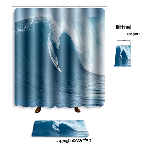 vanfan bath sets with Polyester rugs and shower curtain maui hi january professional surfer francisco shower curtains sets bathroom 69 x 72 inches&23.6 x 15.7 inches(Free 1 towel and 12 - Maui Gin