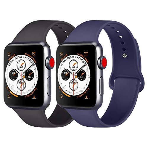 Replacement 40mm Compatible Iwatch Ak Silicone 38mm For With Apple 44mmSoft Series Wristband Band 4 Watch 42mm c3RL4j5Aq