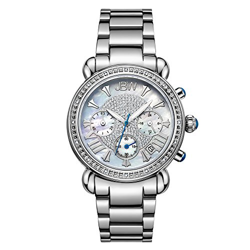 JBW Women's JB-6210-D Victory Pearl Diamond Chronograph Watch
