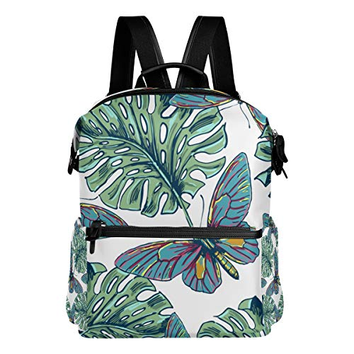 TARTINY Beautiful Seamless Floral Pattern Background Colorful Laptop Backpack Leather Strap School Bag Outdoor Travel Casual Daypack