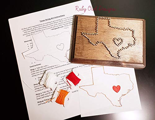 State of Texas DIY String Art Sign, Plaque, DIY