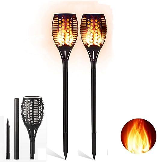 ShenShuai – Lámpara solar para jardín, antorchas de jardín, lámpara solar de jardín, antorchas de jardín con llamas realistas, fácil montaje y resistente al agua IP65: Amazon.es: Iluminación
