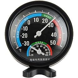 ETbotu Round Reptile Aquarium Tank Thermometer Hygrometer Incubator Temp Humidity Measure For Fish Tank Aquarium Marine Temperature