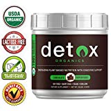 Chocolate Greens SUPERFOOD Powder - Amazing Taste - Organic Super Food Green Daily Vegetable Juice Smoothie Drink Supplement with Wheatgrass and 25+ Superfoods by Detox Organics