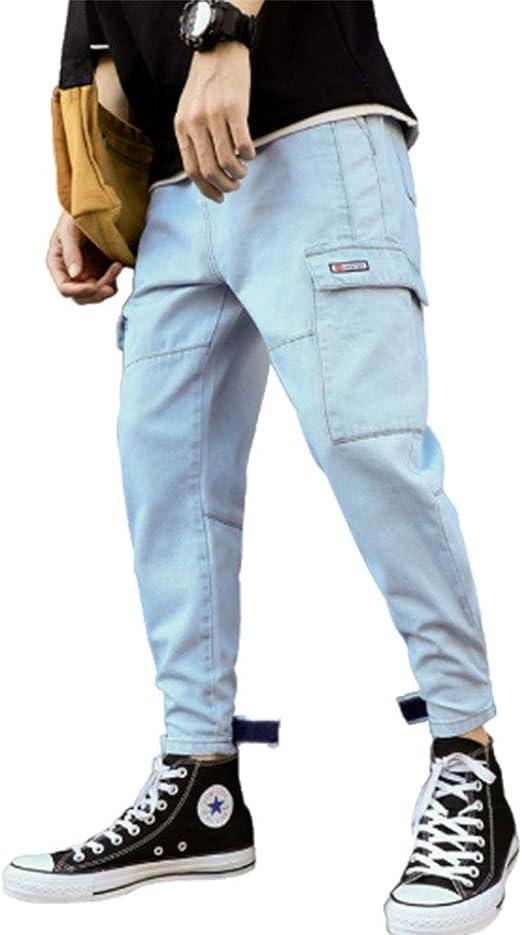 デニムパンツ サルエルパンツ メンズ ジーンズ ゆったり ワイドパンツ 袴パンツ ウェストゴム ヒップホップ ダンス テーパード カジュアル…