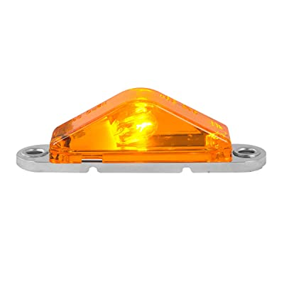 Grand General 86050 Amber Marker Light (Triangle Clear Base): Automotive