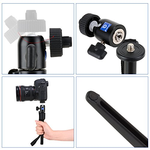 Phone Tripod, Bonfoto B72M Aluminum Swivel Ball Head With Carrying Bag And Phone Holder For YouTube Phone Live Broadcast Gopro 1,2,3,3+,4,Smartphone And Interchangeable Lens Digital Camera