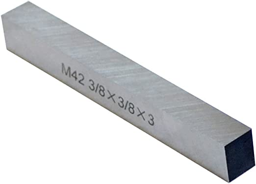 """M2 High Speed Steel Fully Gound 3 PC HSS Tool Bits 12.7mm 1//2/"""" Square 4/"""" Long"""