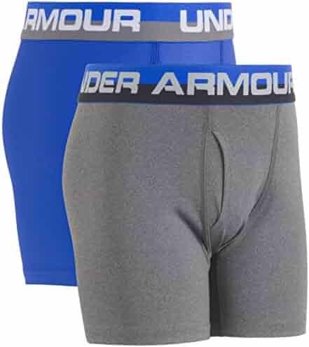 Under Armour Big Boys' 2 Pack Performance Boxer Briefs