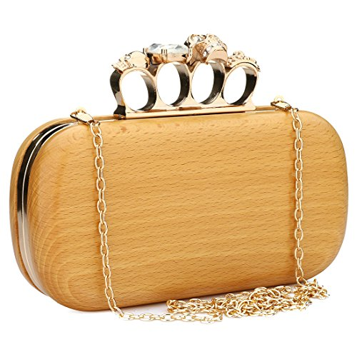 Yyw Evening Bag, Clutch Da Donna Marrone Marrone