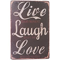 Live Love Laugh Funny Tin Sign Bar Pub Garage Home Art Wall Decor Art Poster Retro