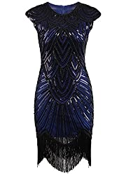 Tassel Beaded 1920s Flapper Dress