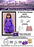18'' Doll Fancy Dresses - In the Hoop - Machine Embroidery Designs