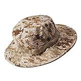 Boonie Hat Camouflage Outdoor Sunscreen Wnd Round Side (Desert Digital Camo)