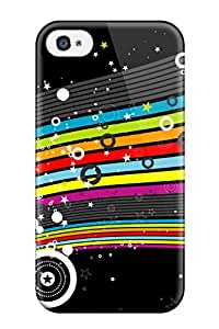 Hot Tpu Cover Case For Iphone/ 4/4s Case Cover Skin - Colorful Stars Hd