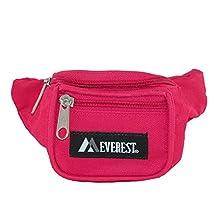 Everest Girls' Fabric Waist Pack Purse, Hot Pink