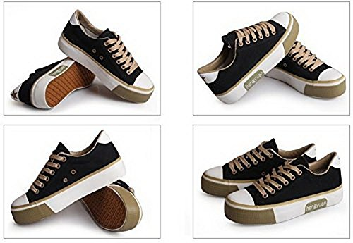 chaussures Bonne Journée 888 Chaussures De Toile Pour Les Femmes. (6.5,  Bleu) Noir ...