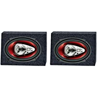 2) Boss CH6940 6x9 500W 4-Way Car Speakers + 2) QTW6X9 Angled 6x9 Speaker Box