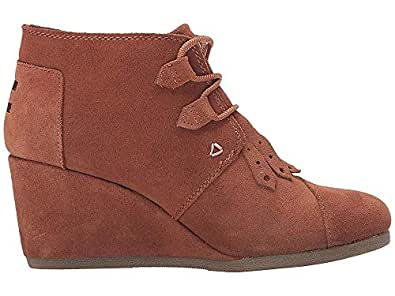 Toms Womens Desert Wedges Boot (5 B(M) US / 35-36 EUR, Wheat-Wheat)