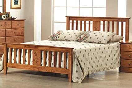 Pertley de madera marco de la cama 135 cm doble: Amazon.es: Hogar
