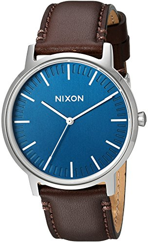 Nixon Men's 'Porter' Quartz Leather Watch, Color:Brown (Model: A1058879-00)