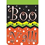 Magnolia Garden Boo Yall Chevron Polka Dot 42 x 29 Round Bottom Double Applique Large House Flag