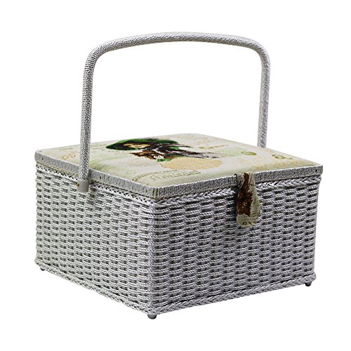 D&D Large Sewing Basket Craft Supplies Storage Box with S...