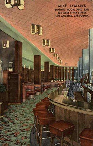 Mike Lyman's Dining Room & Bar 424 West 6th St. Los Angeles, California Original Vintage - Los Angeles Colortone