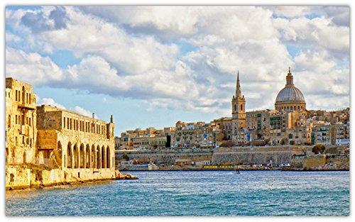 - valletta-malta-mediterranean-sea-water-architecture-clouds. travel sites Postcard Post card