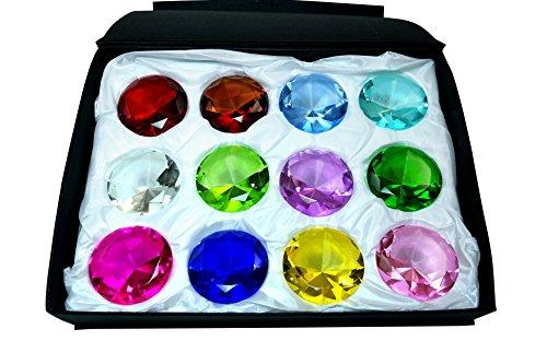 - Tripact 50mm Diamond Jewel Paperweight Round Cut Box Set 12pcs