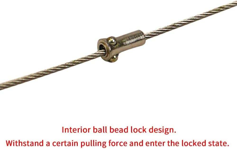 Portable Hook /& Eye Turnbuckle Tension for 1//16-3//32 Galvanized //304//316 Stainless Steel Cable Guide Wire Rope Light Hanging Suspension Accessories by The Quiet Room Pack of 8