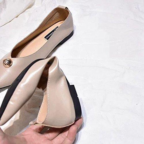 ... Giy Kvinners Klassiske Penny Loafers Nagler Flat Moccasin Spiss Tå Slip-on  Uformell Kjole Loafer