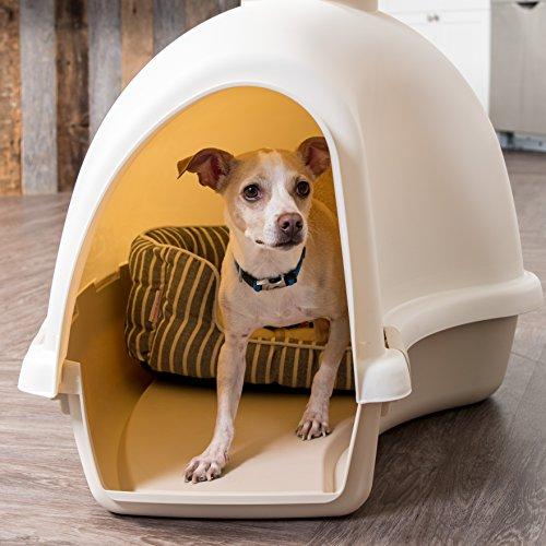 IRIS IDH-L Large Igloo Shaped Dog House, White/Almond by IRIS USA, Inc. (Image #2)