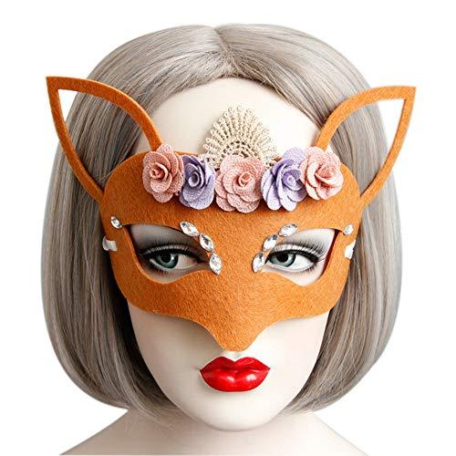 Halloween Mask Party Makeup Women's Sexy Half Mask Girls Fox Animal Eye Mask