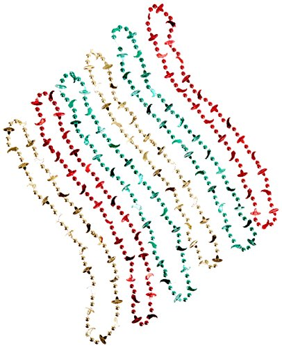(Beistle 57262 6-Pack Fiesta Beads, 33-Inch)