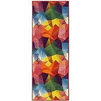 Ottomanson RNB2106-20X59 Rainbow Collection Non-Slip Modern Childrens Abstract Pattern Design Kitchen Runner Rug, Multicolored, 20 x 59