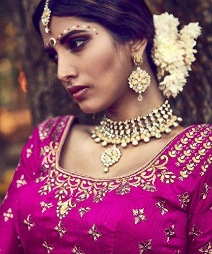IWS Indian Women Designer Wedding Party Wear MAGENTA Color Lehenga Choli