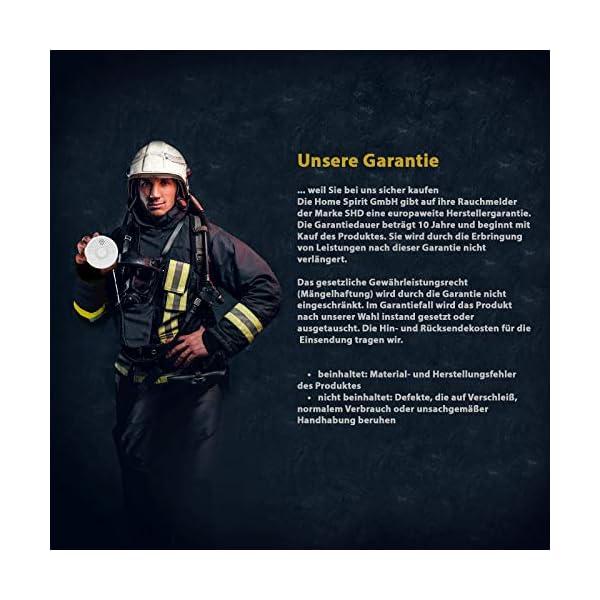 51V7vs3KfML Rauchmelder 4er Set, 10 Jahre Garantie, DIN EN14604 geprüft, BSI Zertifiziert, 4 Stück Brandmelder mit 4X 9V Batterie