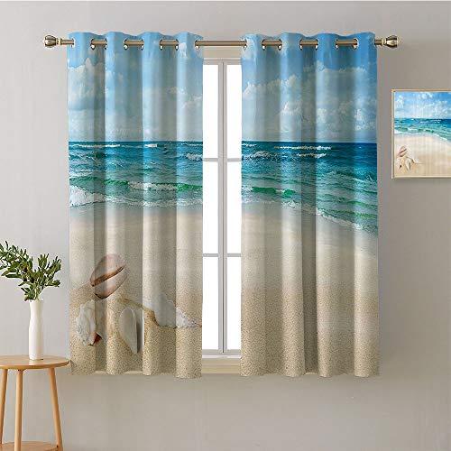 ScottDecor Curtain Door Panel Grommets Window Darkening Curtains Decorative Darkening Curtains Modes Darkening Curtains Bedroom/Living (1 Pair, 31.5