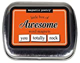 Magnetic Poetry - Little Box of Awesome Kit - Words for Refrigerator - Write Poems and Letters on the Fridge - Made in the USA