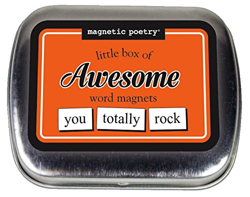 (Magnetic Poetry - Little Box of Awesome Kit - Words for Refrigerator - Write Poems and Letters on The Fridge - Made in The USA)