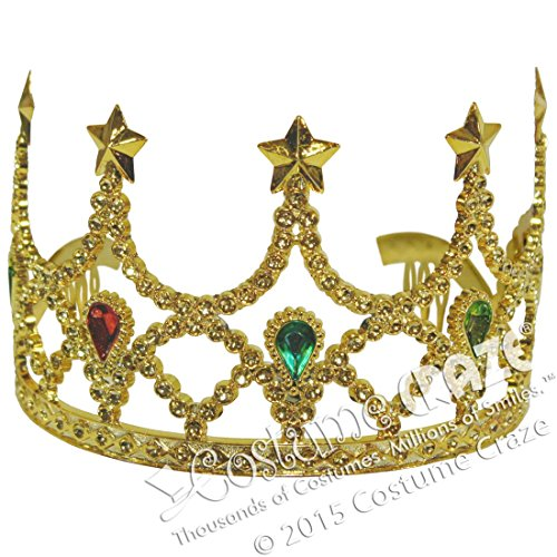 [Forum Novelties Inc Sparkling Tiara With Stone Gold One Size Fits Most] (Mens Beast Halloween Costume)
