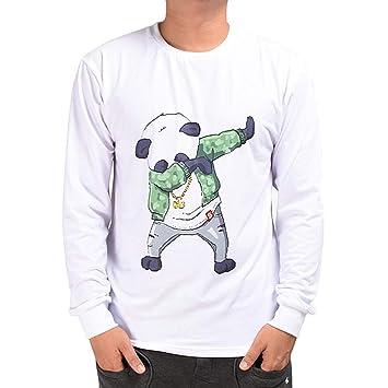 Hombre camiseta tops otoño casual, ❤ Sonnena Otoño de los hombres Casuals 3D Imprimir Swag Panda Hip Hop de manga larga Pullover Top Blusa: Amazon.es: ...