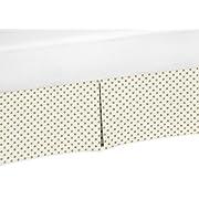 Sweet Jojo Designs Metallic Gold Polka Dot Crib Bed Skirt Dust Ruffle for Girls Amelia Collection Baby Bedding Sets