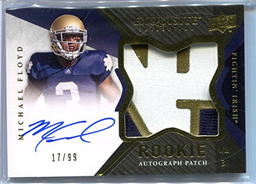 Michael Floyd 2012 Exquisite Collection RC #150 Auto #17/99 Rookie Trading Card Notre Dame Fighting Irish Chicago - Shop Chicago Irish