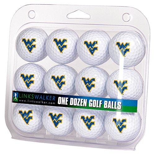 Ncaa Dozen Golf Ball - LinksWalker NCAA West Virginia Mountaineers - Dozen Golf Balls