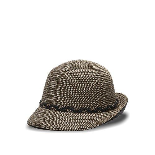 Tweed Cloche - Brixby Cloche Straw Hat 50+ UPF (Black Tweed)