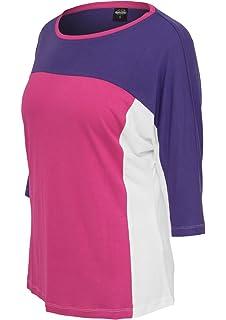 627609e6731de Urban Classics Top Femme Multicouleurs à Manches Longues Haut Large T-Shirt  100% Cotton