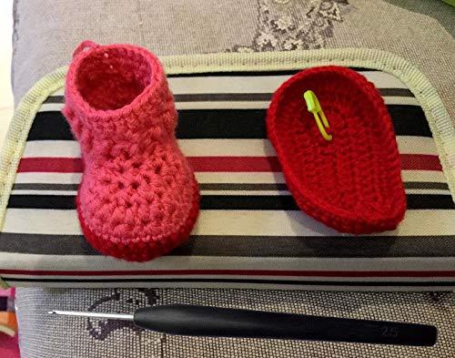 FidgetFidget 上海钩针刘长安黑檀红木手工 Handmade Crochet Hooks Stainless Steel Needle Wood Wooden Handle 22pcs Set by FidgetFidget (Image #3)