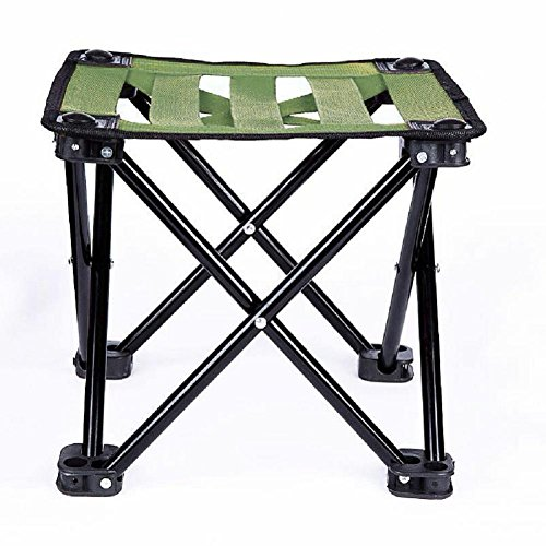 Stool Train (OOFAY Folding camp Chair portable fishing home outdoor bathroom train stools folding chairs , green grass)